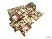 隆豪翡翠星城3室2厅2卫142平方米户型图