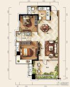 天玺三期2室2厅1卫87平方米户型图