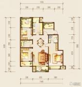 金科廊桥水岸3室2厅2卫135平方米户型图