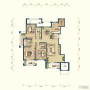 滨湖国际・观澜4室3厅3卫261平方米户型图