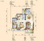 花园城孔雀湖3室2厅2卫0平方米户型图