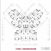 恒大雅苑3室2厅2卫102平方米户型图