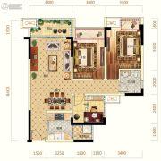 中亿阳明山水2室2厅1卫81平方米户型图