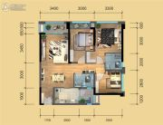 鹭洲国际二期3室2厅2卫90--98平方米户型图