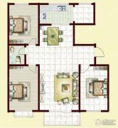 翰林北苑3室2厅1卫135平方米户型图