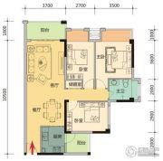 玉柴第壹城3室2厅1卫106平方米户型图