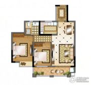 华强城2室2厅1卫85平方米户型图