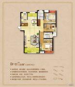 城东一号3室2厅2卫130平方米户型图