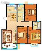 漯北新城3室2厅2卫133平方米户型图