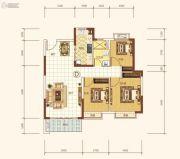 恒大海上帝景3室2厅1卫102平方米户型图