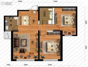 鹏博金城珑园2室2厅1卫97平方米户型图