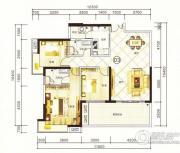 紫园3室2厅2卫128平方米户型图
