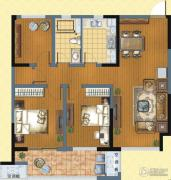 九洲花园缇香郡3室2厅1卫104平方米户型图