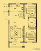 多恩海棠湾2室2厅1卫95平方米户型图