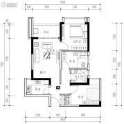 华发城建未来荟3室2厅1卫75平方米户型图