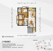 白金壹号3室2厅2卫108平方米户型图