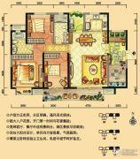 华强城3室2厅2卫139平方米户型图