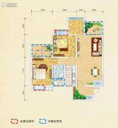 弘乐府・公园1号3室2厅1卫91平方米户型图
