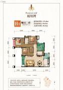 凤凰湾3室2厅2卫113平方米户型图