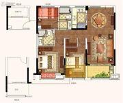 荣安诚品园3室2厅2卫112平方米户型图