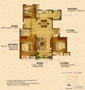 中海锦��湾3室2厅2卫127平方米户型图