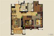 中铁北辰名邸2室2厅1卫90平方米户型图