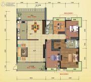 榕江明珠4室2厅2卫204平方米户型图