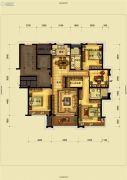 骏园4室2厅2卫142平方米户型图