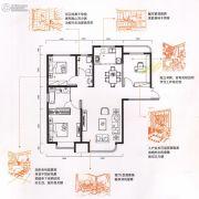 金色时光3室2厅2卫121平方米户型图
