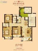 浩创梧桐印象3室2厅2卫105平方米户型图