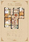 恒开滨河城3室2厅1卫108平方米户型图
