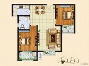 中购御景城2室2厅1卫86平方米户型图