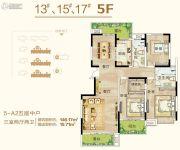 御翠园3室2厅2卫146平方米户型图