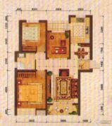 东方夏威夷3室2厅1卫108平方米户型图