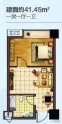 日月星城1室1厅1卫0平方米户型图