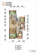 梅州万达广场3室2厅2卫120平方米户型图