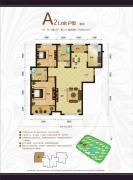 天鹅湖1号2室2厅2卫106平方米户型图