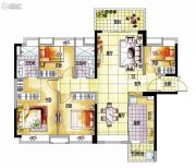 越秀保利爱特城4室2厅2卫129平方米户型图