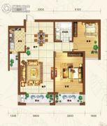重邦康城2室1厅1卫103平方米户型图