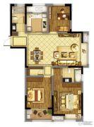 东方兰园3室2厅2卫124平方米户型图