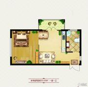 龙鸿怡家1室0厅1卫0平方米户型图