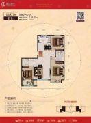 宏宇亚龙湾3室2厅2卫118平方米户型图