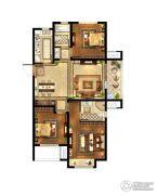 中粮鸿云3室2厅2卫108平方米户型图