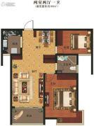 义乌城2室2厅1卫100平方米户型图