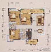 黔龙1号3室2厅2卫122平方米户型图