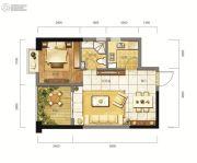 东方希望天祥广场天荟1室2厅1卫55--59平方米户型图