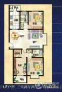 美巢蓝钻3室2厅2卫143平方米户型图