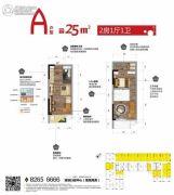 清溪碧桂园・锦多宝2室1厅1卫25平方米户型图