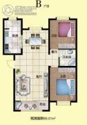 月湖名邸2室2厅1卫0平方米户型图