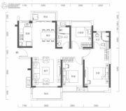 海伦城3室2厅2卫109平方米户型图